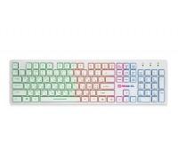 Клавиатура REAL-EL Comfort 7070 Backlit USB белая с подсветкой