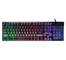 Клавиатура REAL-EL Comfort 7090 Backlit USB черная с подсветкой