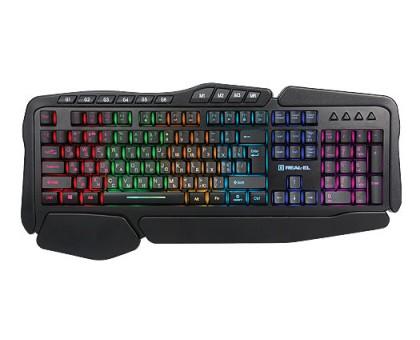 Клавиатура REAL-EL REAL-EL 8900 Gaming RGB Macro игровая с подсветкой