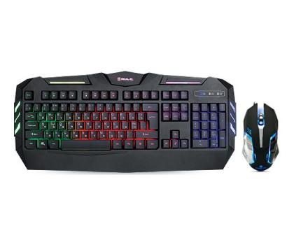 Клавиатура + мышка REAL-EL Gaming 9500 Kit Backlit игровые с подсветкой