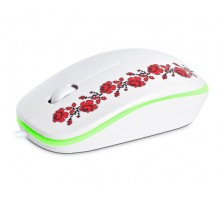 Мышка REAL-EL RM-777 Glory USB белая