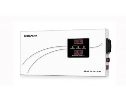 Стабилизатор напряжения REAL-EL STAB SLIM-500 (УЦЕНКА)