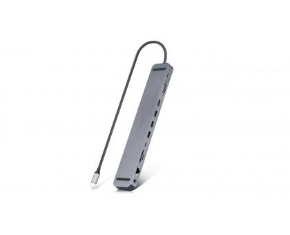 Type C мультифункциональная док-станция REAL-EL CQ-1000 (3×USB A 3.1, USB-C, HDMI, RJ45, audio 3.5 mm, SD/TF, VGA, USB-C PD)